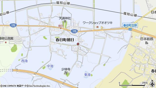 〒669-3411 兵庫県丹波市春日町朝日の地図
