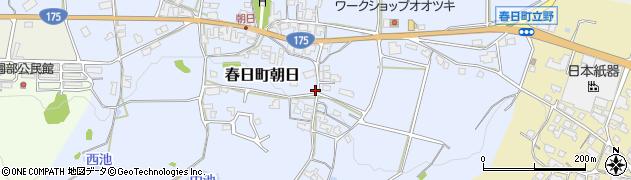 兵庫県丹波市春日町朝日周辺の地図