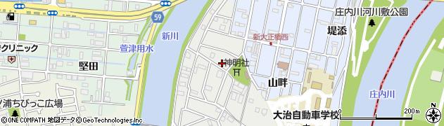 愛知県大治町(海部郡)鎌須賀(茶屋)周辺の地図