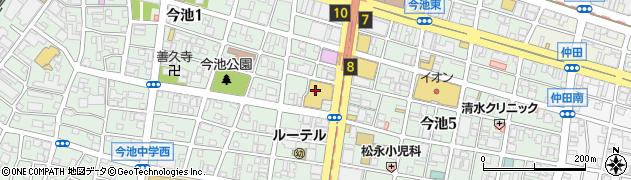 丸忠海転寿司 ピアゴラフーズコア今池店周辺の地図
