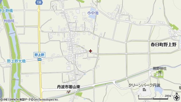 〒669-4124 兵庫県丹波市春日町野上野の地図