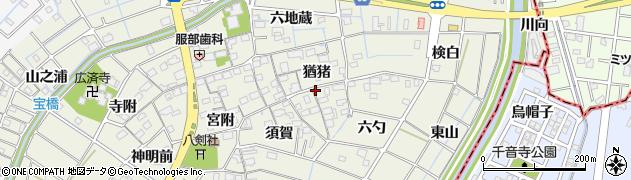 愛知県あま市七宝町桂(猶猪)周辺の地図
