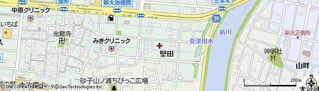 愛知県大治町(海部郡)三本木(堅田)周辺の地図