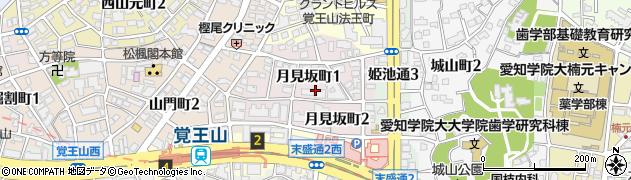 愛知県名古屋市千種区月見坂町周辺の地図