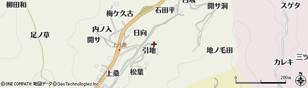 愛知県豊田市新盛町(引地)周辺の地図