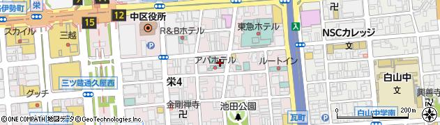 ふぁーすと周辺の地図