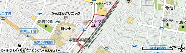 愛知県名古屋市千種区新栄周辺の地図