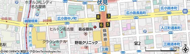 よね一うなぎ店周辺の地図