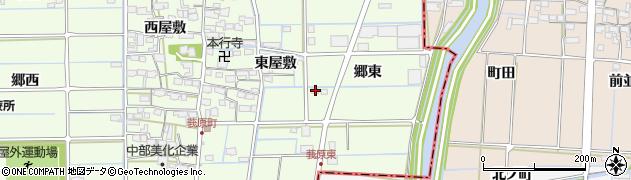 愛知県津島市莪原町(郷東)周辺の地図