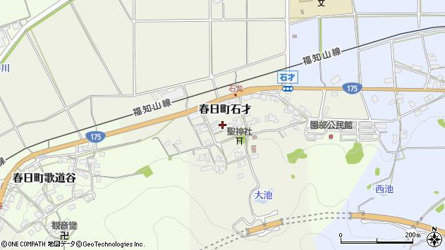 〒669-3413 兵庫県丹波市春日町石才の地図