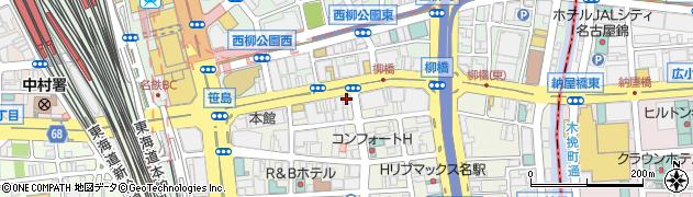 大黒 笹島店周辺の地図