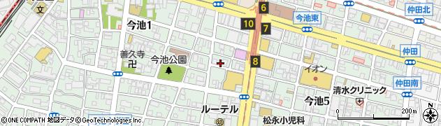 味仙今池本店周辺の地図