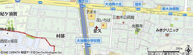 愛知県大治町(海部郡)三本木(金久)周辺の地図