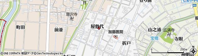 愛知県あま市七宝町川部(屋敷代)周辺の地図