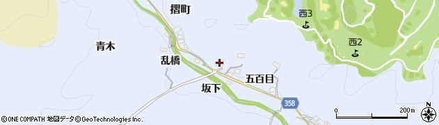 愛知県豊田市摺町(大皿田)周辺の地図
