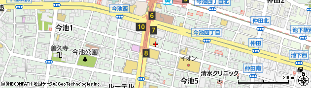 今池炭酒屋周辺の地図