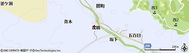 愛知県豊田市摺町(乱橋)周辺の地図