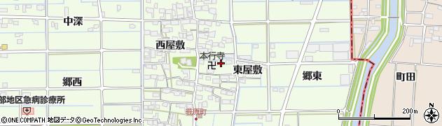 愛知県津島市莪原町(東屋敷)周辺の地図