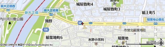 愛知県名古屋市中村区稲葉地本通周辺の地図