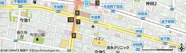 竹取御殿 今池駅前店周辺の地図