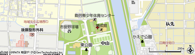 愛知県津島市中一色町(中山)周辺の地図