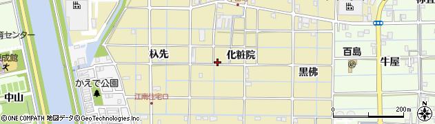愛知県津島市牛田町周辺の地図