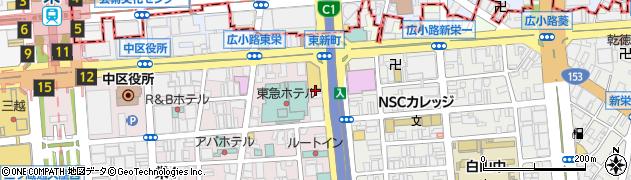鎌田炭焼ステーキ周辺の地図