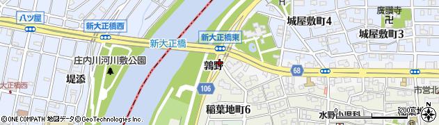 愛知県名古屋市中村区稲葉地町鶉野周辺の地図