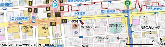 個室 鮨酒肴や 魚忠 栄本店周辺の地図