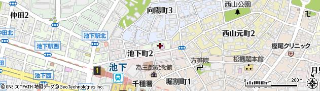 愛知県名古屋市千種区池下周辺の地図