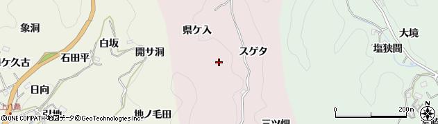 愛知県豊田市大井町(スゲタ)周辺の地図