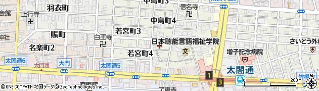 愛知県名古屋市中村区若宮町周辺の地図