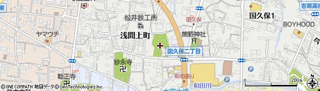 泰徳寺周辺の地図
