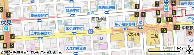 愛知県名古屋市中区錦3丁目22-24周辺の地図