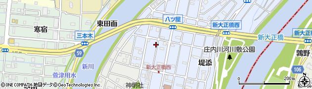 愛知県大治町(海部郡)八ツ屋(西田面)周辺の地図
