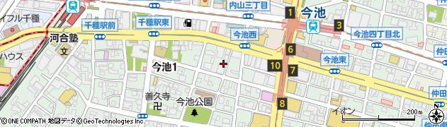 焼肉池田屋周辺の地図
