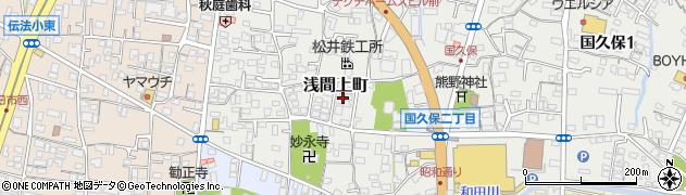 静岡県富士市浅間上町周辺の地図