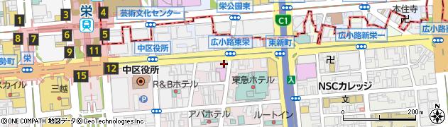 さんきゅう栄 本店周辺の地図