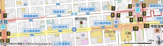 朝日神社周辺の地図