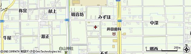 愛知県津島市莪原町みずほ周辺の地図