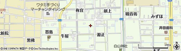 愛知県津島市百島町(源正)周辺の地図