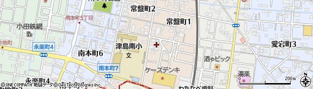愛知県津島市常盤町周辺の地図