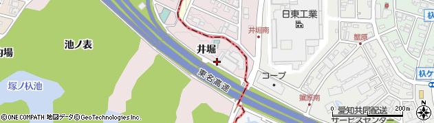 愛知県名古屋市名東区猪高町大字上社(井堀)周辺の地図