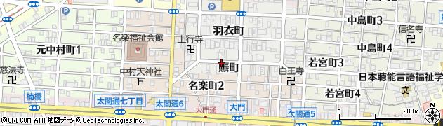 愛知県名古屋市中村区賑町周辺の地図