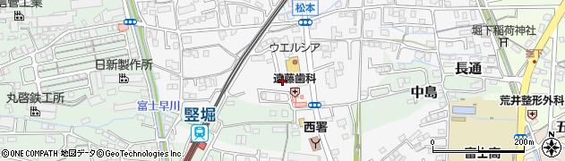 静岡県富士市松本周辺の地図