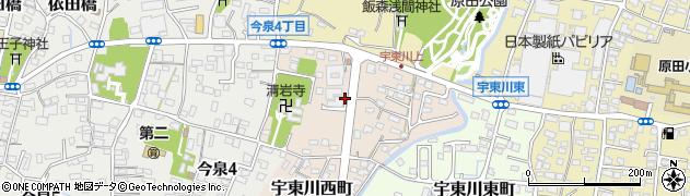 静岡県富士市宇東川西町周辺の地図