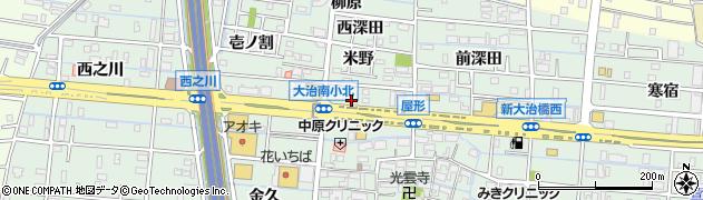 備長扇屋大治南店周辺の地図