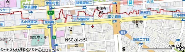 鮨井周辺の地図
