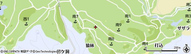 愛知県豊田市摺町(猿林)周辺の地図
