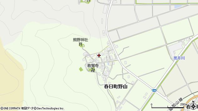 〒669-3416 兵庫県丹波市春日町野山の地図